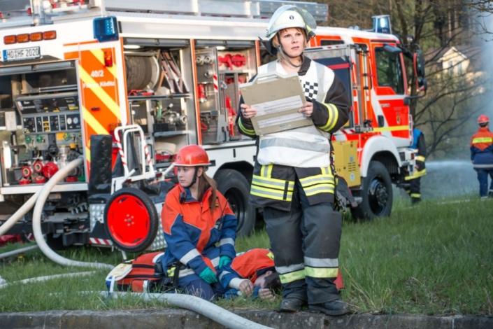 Feuerwehrübung bei Hochfranken Holz 3