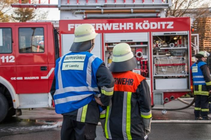 Feuerwehrübung bei Hochfranken Holz 4