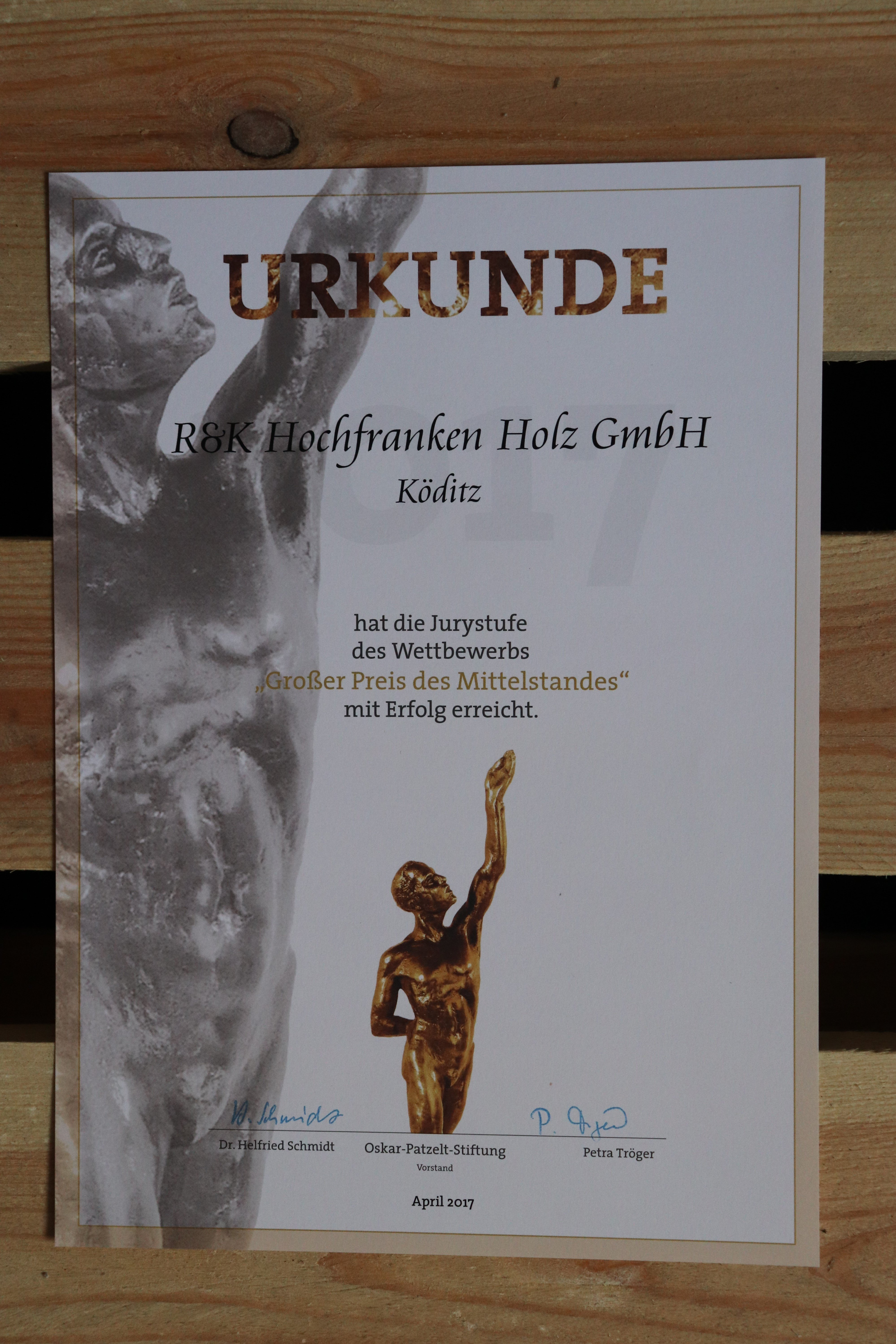 Jurystufe des großen Preis Mittelstand erreicht 8